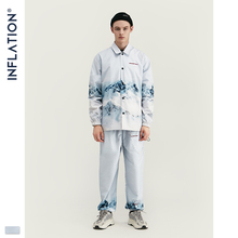 INFLATION 2020 DESIGN Casual Loose Fit Blazer with Print  White Color Streetwear Men Suit Fashion Style  Terno Masculino Blazers