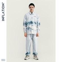 INFLATION 2020 DESIGN Casual Lose Fit Blazer mit Druck Weiße Farbe Streetwear Männer Anzug Mode Stil Terno Masculino Blazer