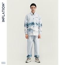 Inflacja 2020 DESIGN Casual luźny krój marynarka z nadrukiem biały kolor Streetwear mężczyźni garnitur moda styl Terno Masculino Blazers