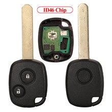 Jingyuqin Remote Control Car Key ID46 Chip For Honda Accord CR-V Odyssey Civic Fit City 2007 2008 1/2 Buttons No Logo