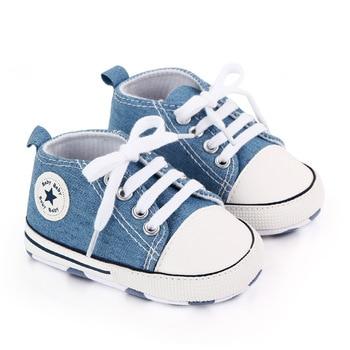 Zapatillas clásicas de lona para bebé, deportivas con estampado de estrellas para...