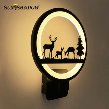 Modern Led Wall Light 12W Black Acrylic Sonces Wall Lamp Warm white For Living room Bedside room Bedroom Led Light Fixtures 220V modern chinese style wood wall lamp wooden acrylic tree shape living room led bedroom bedside wall sconces