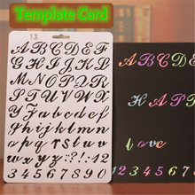 Layering Stencils Alphabet Album-Card-Template Scrapbooking Painting Embossing Letters