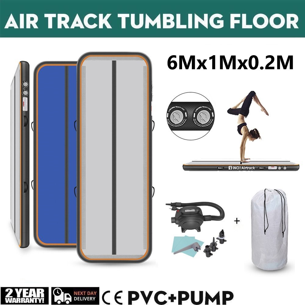 3/4/5/6m Air Track Inflatable Gymnastics Mat Yoga/Tumbling/Gym Mat PVC Waterproof Gymnastics Air Floor For Pool/Outdoor/Traning