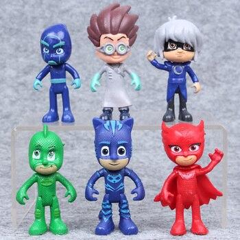 6 pièces/ensemble dessin animé Pj masque Juguete 2018 personnage Pj masques Catboy OwlGilrs Gekko masques figurines d