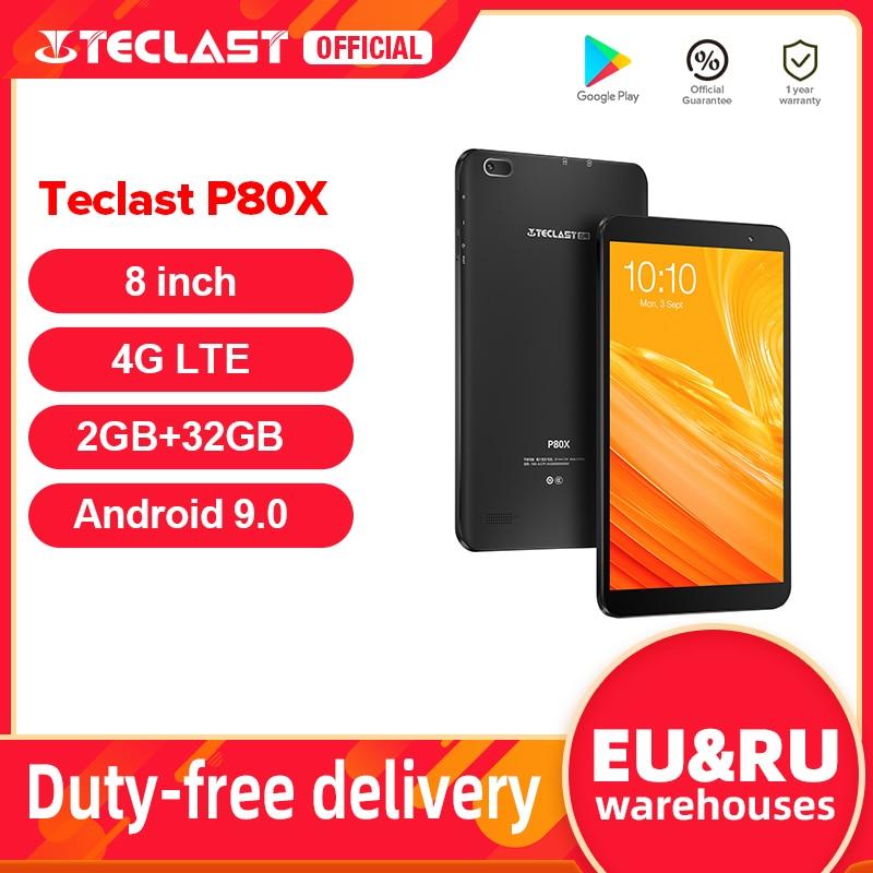 Teclast P80X 8-дюймовый планшетный ПК с системой андроида и 9,0 4G планшетофон (плафон) SC9863A Octa Core 1280*800 IPS 2 Гб Оперативная память 32GB Встроенная память ...