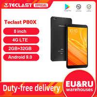 Teclast-Tablet con doble cámara y función GPS, phablet con pantalla IPS de 8 pulgadas, Android 9.0, 4G, Octa Core SC9863A, 1280 x 800, 2GB de RAM y 32GB de ROM, modelo P80X