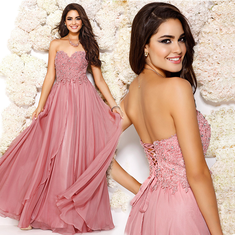 Crystal Beading Sexy 2018 Appliques Chiffon Floor Length Sweetheart Beach Party Prom Gown Custom Mother Of The Bride Dresses