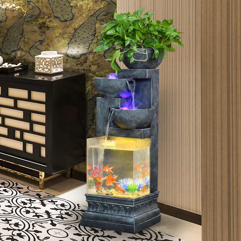 Fontaine d'eau de Style européen, atomisation créative, Humidification, réservoir de poissons, décorations d'intérieur, salon, salon