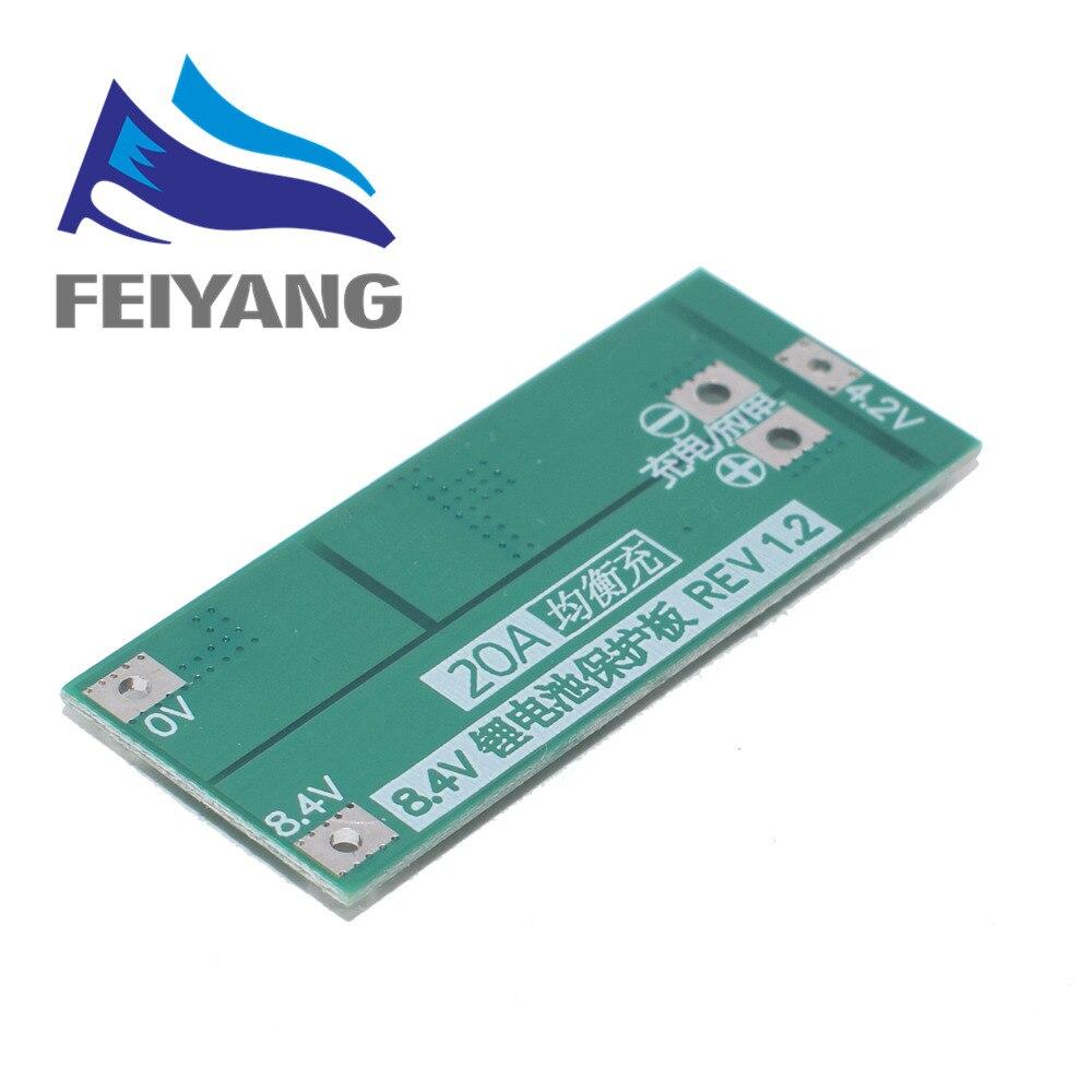 2S 10A 20A 7,4 V 8,4 V 18650 полимерная литиевая батарея защиты BMS доска Стандартный балансный модуль Diy Электронный