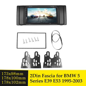 2 Din Car Stereo Radio Fascia for BMW 5 Series E53 E39 1995-2003 Double Din DVD Adapter Panel Bezel Plate Frame Dash Mount Kit image