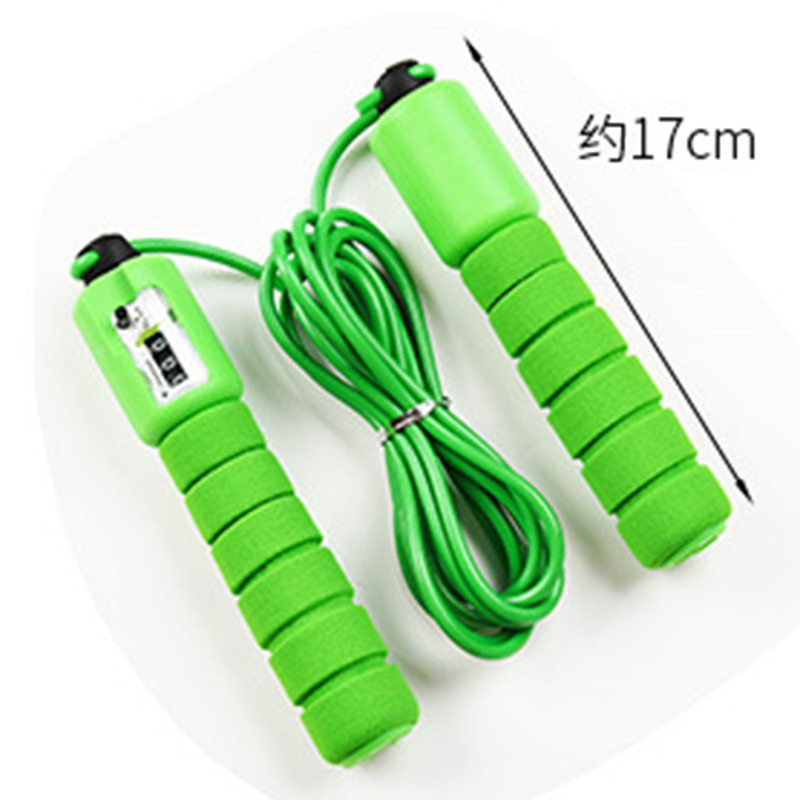 Jump Skipping Rope Plain Fitness Adjustable Adult Kids With Counter Indoor PS
