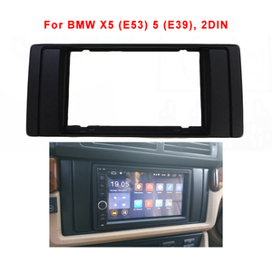 2 Din DVD Stereo Radio Fascia For BMW X5 (E53) 5 (E39) Adpter Frame Panel Plate Radio Dash Mount Installation Trim Kit Bezel