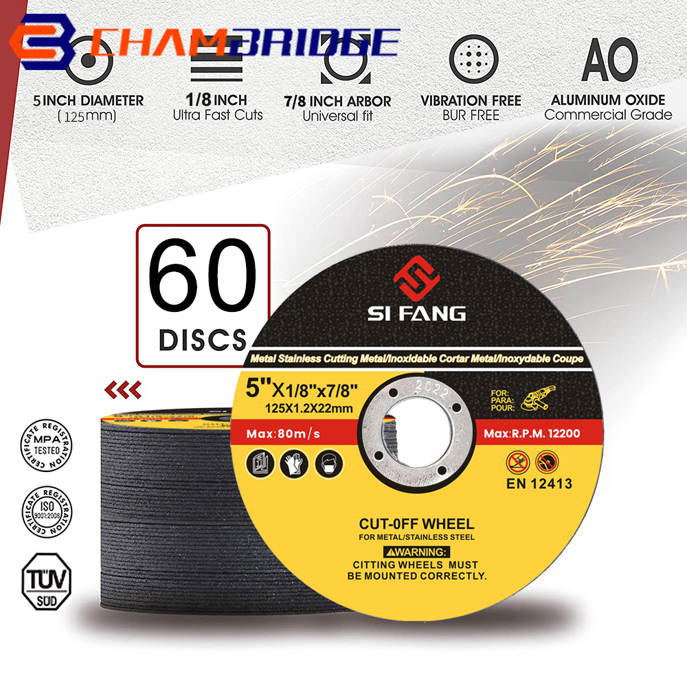 125mm Metal Cutting Discs  2-60Pcs Stainless Steel Cut Off Wheels Flap Sanding Grinding Discs Angle Grinder Wheel