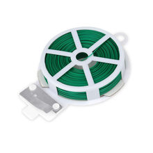 20/30/50/100M Plant Twist Tie with Cutter Sturdy Green Coated Wire for Gardening Home Reusable Wire Cable with Slicer z0119(China)