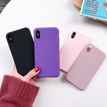 Luxury Thin Soft Color Phone Case for IPhone 7 8 6 6s Plus 7 8plus Case Silicone Back Cover Capa for IPhone X Xs 11 Pro Max XR luxury shockproof transparent silicone case for iphone x xs max 11 pro xr soft phone capa for iphone 8 7 6 6s plus 11 back cover