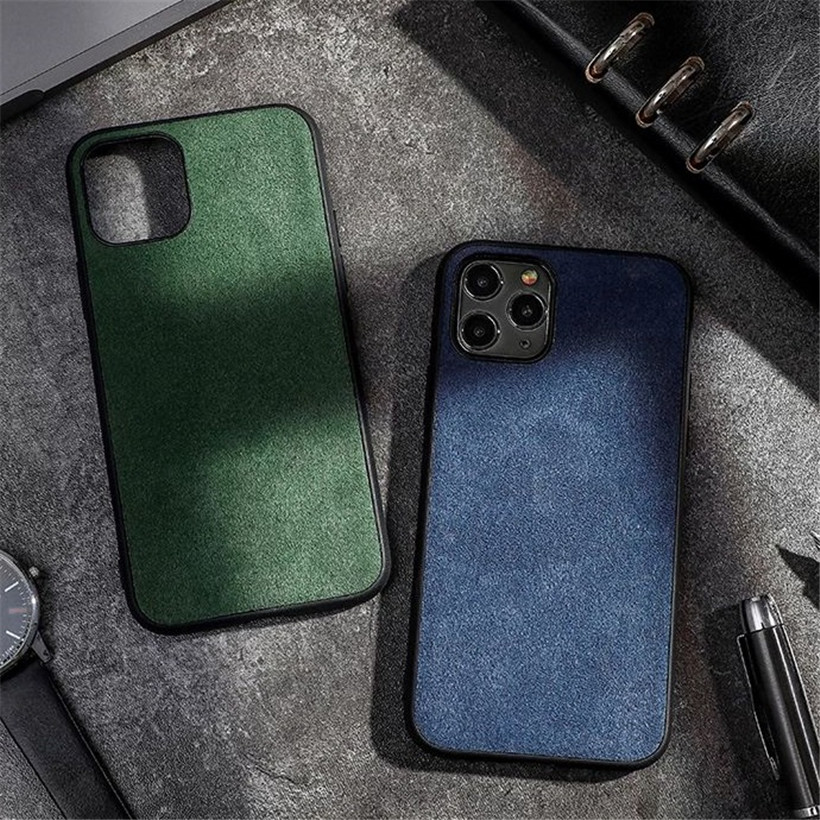 Alcantara Leather Back Cover For Iphone 11 12 Pro Max Case Luxury Artificial Phone Case For Iphone SE Xs Max XR 7 8 6S Plus X