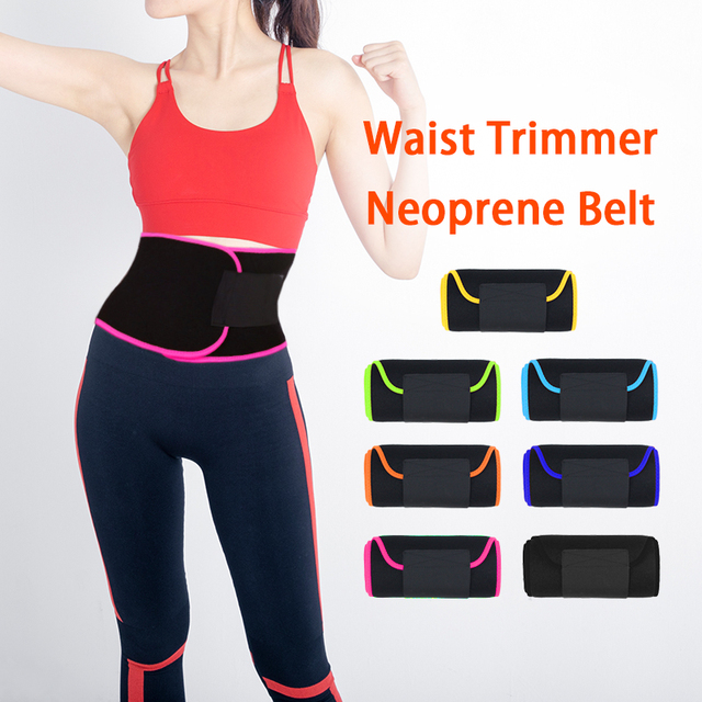 Sweat Wrap Slim Body Lumbar Support Belt Waist Trimmer Belt for Women Weight Loss Abdominal Trainer Slimming Body Shaper 4