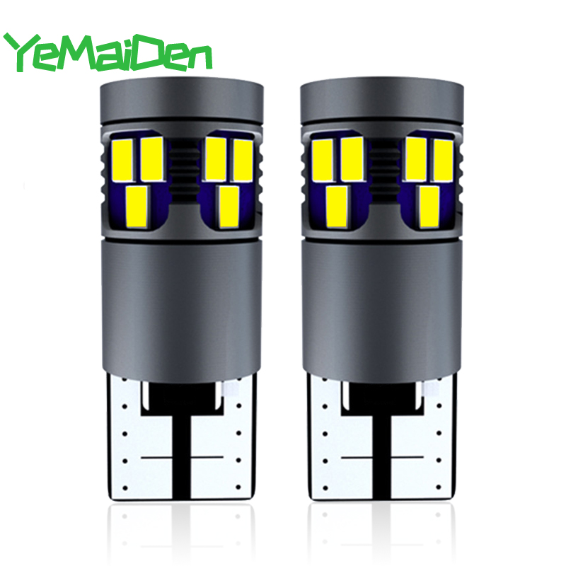 2x <font><b>T10</b></font> LED Canbus Bulb 12V <font><b>18</b></font> <font><b>SMD</b></font> Super Bright LED Signal Light White 6500K Car Interior Dome Reading Trunk Lmaps Red Yellow 5W5 image