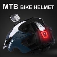 NEWBOLER MTB Road Bike Downhill Helm Led-leuchten pro Kamera Halter Radfahren Helm Outdoor Sport Reiten Fahrrad Helm Für Mann