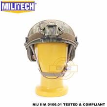 Casco balistico MILITECH FAST MC Deluxe quadrante a vite senza fine NIJ level IIIA 3A High Cut certificato ISO Twaron casco antiproiettile DEVGRU