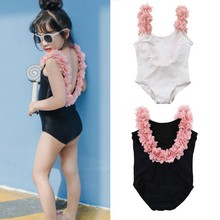 baby girl Swimwear Baby Girls Clothes Cute Toddler Swimsuit Swimwear Infant Swimming bikini(China)