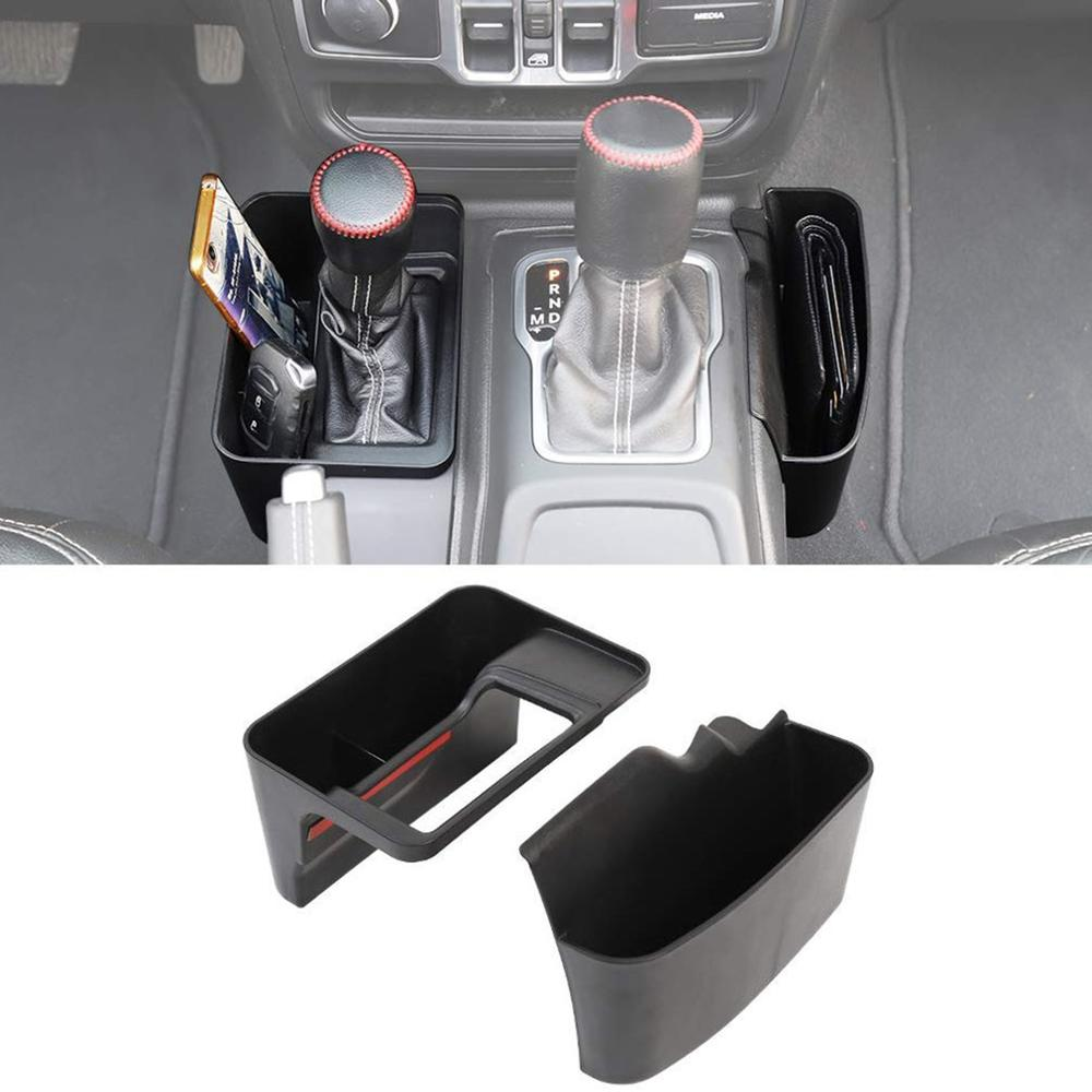 For Jeep Wrangler Jl Jlu 2018 2019 Gear Side Storage Box Car Mobile Phone Sundries Storage Box Car Supplies