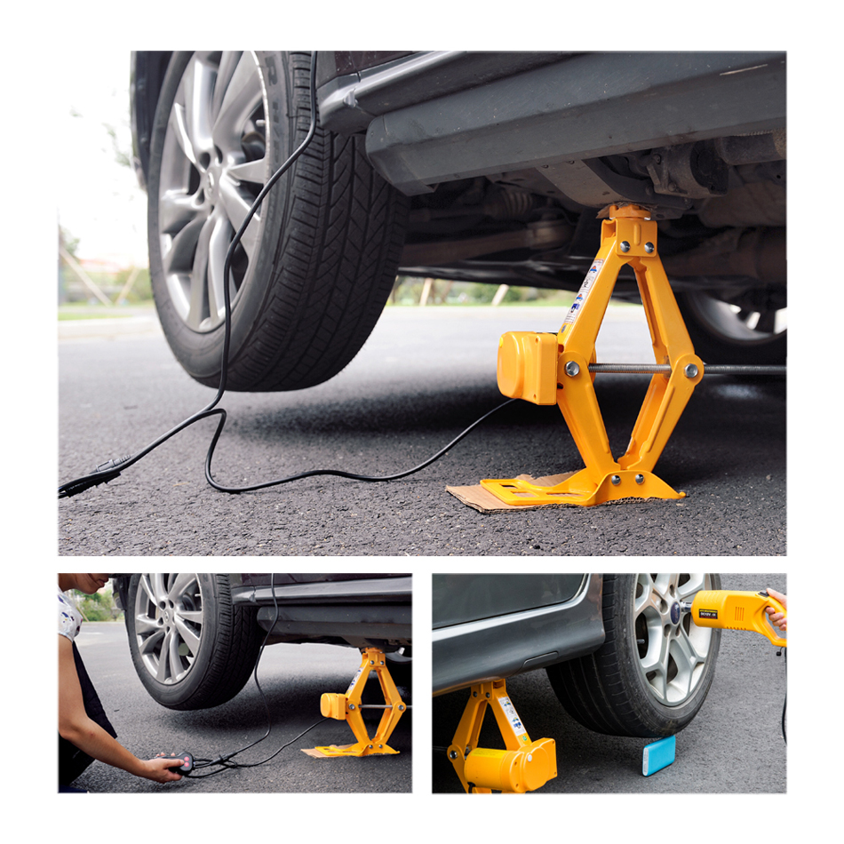 12V Car Electric Jack Tire Replacement Tool Hydraulic Floor Jack Set Impact Wrench Tool Automatic Lifting Repair Tool Kit