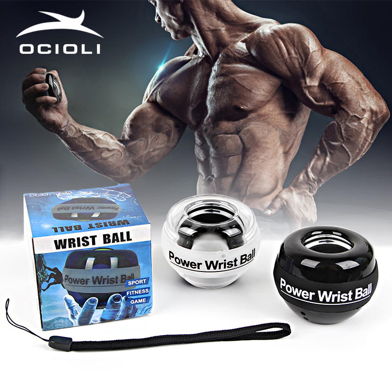 Gyroscope Power Ball Forearm Wrist Exerciser Arm Muscle Force Exercise Strengthen Ball Trainer Carpal Expander Gym Fitness