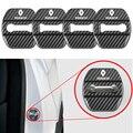 4 шт. автомобиль-Стайлинг автомобиля углеродного волокна узор крышка замка автомобильной двери чехол для Renault Koleos аксессуары для kadjar