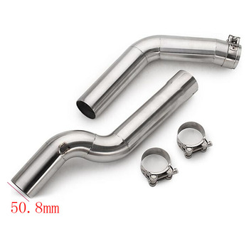 CBR1000rr cbr600rr SLIP-On Motorcycle exhaust middle link pipe underseat mid tube for CBR600rr f5 2003-2015 cbr1000 04-07