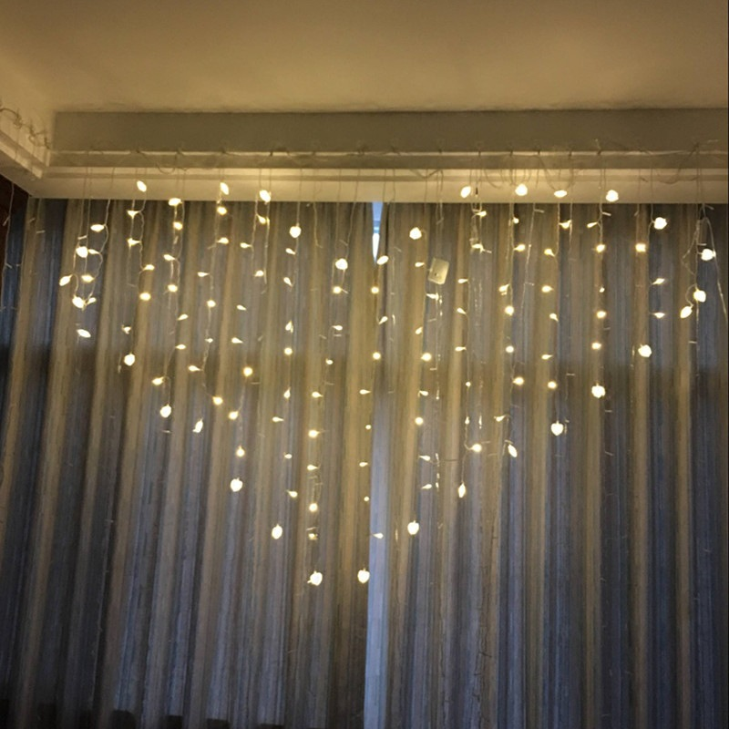 LED love curtain lamp  heart shaped lamp string  marriage courtesy white decorative lamp  room bar Christmas decoration|Lighting Strings| |  - title=