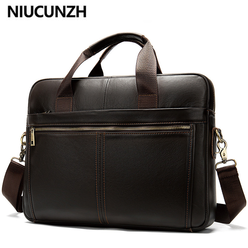 NIUCUNZH Men's Briefcase/Genuine Leather Messenger Bag Men Leather/business Male Laptop Office Bags For Men Briefcases Men's Bag