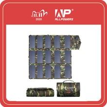 Allforce 18V100W التمويه اللون المحمولة شاحن بالطاقة الشمسية لوحة شمسية قابلة للطي للهاتف المحمول في الهواء الطلق المحمول