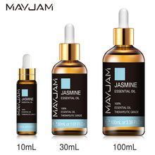 10ml 30ml 100ml with Dropper Jasmine Lavender Eucalyptus Mint Vanilla Pure Natural Essential Oils Ylang Ylang Tea Tree Aroma Oil