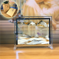 3D Quicksand painting hourglass ornaments home decoration accessories modern birthday gift creative glass crafts