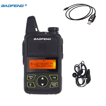 BAOFENG T1 MINI Two Way Radio BF-T1 Walkie Talkie UHF 400-470mhz 20CH Portable Ham FM CB Handheld Transceiver + cable - discount item  15% OFF Walkie Talkie