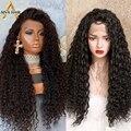 Парик Aiva из термостойких синтетических волос, без клея, длинный кудрявый черный, для косплея, для чернокожих женщин