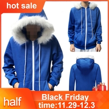 Men Women Cosplay Blue Fleece Hooded New Costume Warm New Coat Details about Undertale Sans Cosplay Blue Hoodie## cheap Polyester REGULAR Full Broadcloth Sweatshirt Zip-up Solid Casual Black White Gray S M L XL 2XL 3XL moletom feminino inverno