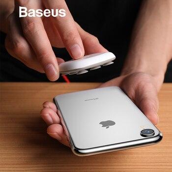 Baseus עכביש יניקה כוס אלחוטי מטען עבור IPhone XR XS מקס נייד מהיר טעינה אלחוטי Pad עבור סמסונג הערה 10 9 S9 + S8