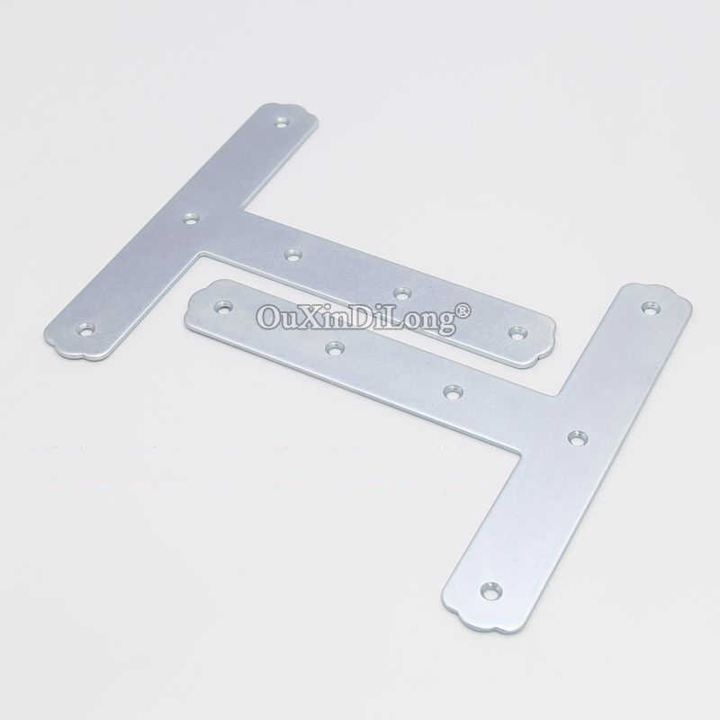 8PCS Metal Flat Corner Braces T Shape Furniture Connecting Fittings Frame Board Support Brackets Fastener Parts 2.5X30X180X180mm