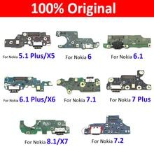Original USB Charging Port Connector Dock Flex Cable Replacement Part For Nokia 3 3.2 6 7.1 7.2 5.1 5.3 Plus 6.1 Plus 7 Plus 8.1
