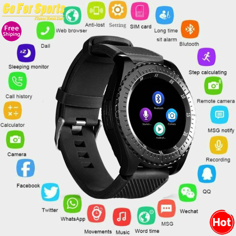 Newest Smart Watch Z3 Bluetooth Touch Screen Leather Strap Wrist Watch with Camera SIM TF Card Slot For Android PhonePK Y1 V8 A1 image