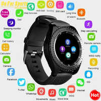 Newest Smart Watch Z3 Bluetooth Touch Screen Leather Strap Wrist Watch with Camera SIM TF Card Slot For Android PhonePK Y1 V8 A1
