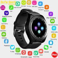 Nouvelle montre intelligente Z3 Bluetooth écran tactile bracelet en cuir montre-bracelet avec caméra SIM TF fente pour carte pour Android PhonePK Y1 V8 A1