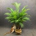 На рост от 80 до 125 см тропические растения большие искусственные пальмовые ветви дерева пол поддельные монстера пластиковая Пальма листьям...