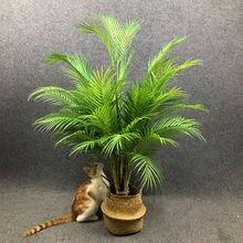 Grandes plantes tropicales artificielles 80-125cm, branches de palmier artificielles au sol, fausses feuilles de palmier Monstera en plastique pour décoration de jardin de maison et de mariage