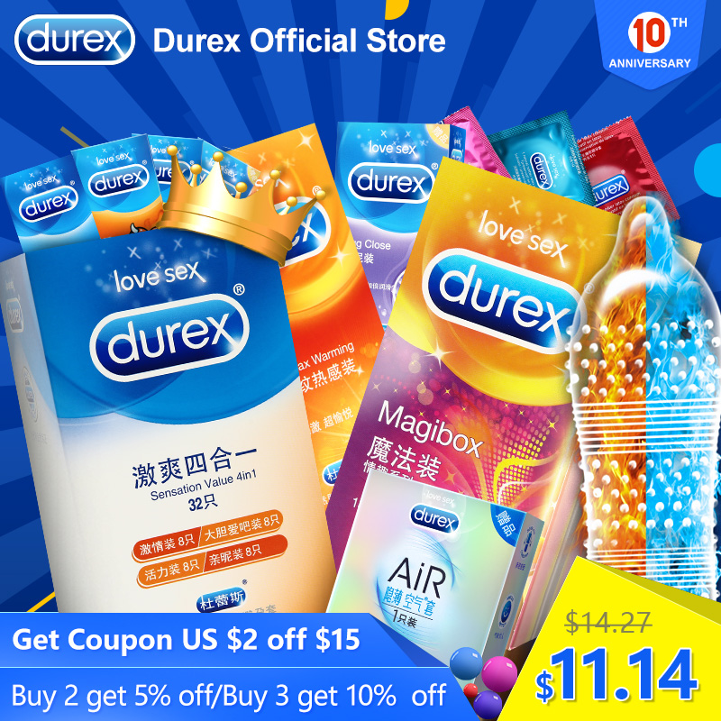 Durex Magic Condom XXL Large Size Spike Ultra Thin Sex Products Natural Rubber Cock Sleeve Intimate Goods Sex For Men Adult