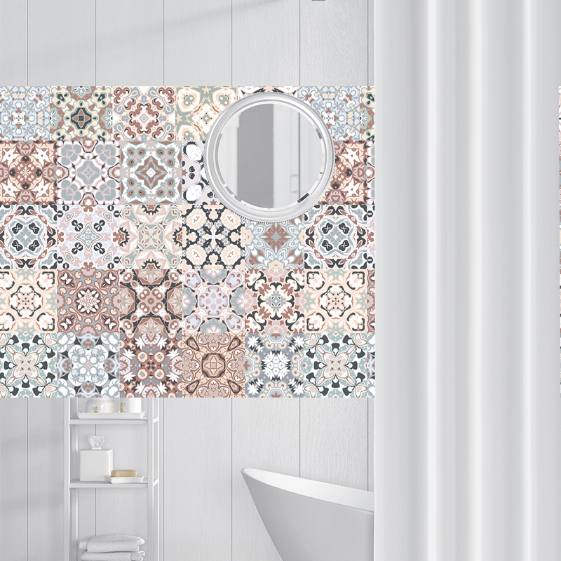 Arabic Style Mosaic Tile Stickers For Living Room Kitchen Retro 3D Waterproof Mural Decal Bathroom Decor DIY Adhesive Wallpaper