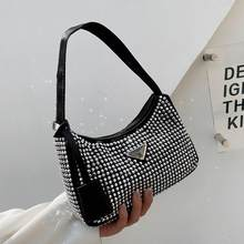 Blingbling PU Leather Small Underarm Shoulder Bags 2021 Women Brand Luxury Beautiful Fashion Lady Party Handbags And Purses